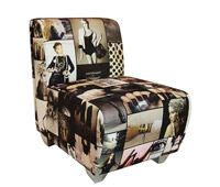 Carpi Magazine print modern Lounge Chair