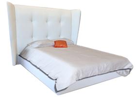 Corsica modern bed white