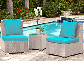 fiora modern outdoor patio lounging set grey