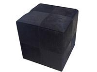 Luxury Black Cowhide modern ottoman