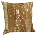 Mendoza Cowhide Modern Pillow Sand and Gold