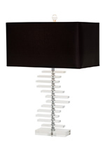 lisanto modern table lamp black Shade
