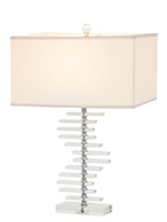 lisanto modern table lamp white Shade