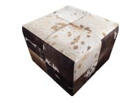 Luxury Multi-Color Cowhide modern ottoman