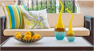 Outdoor Furniture Doral - Outdoor Pillows in assorted colors available at our Fort Lauderdale Furniture Store