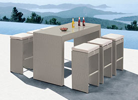 palma modern outdoor patio dining set grey