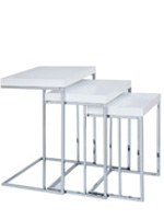 voterra modern nesting side table white