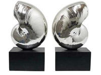 Resin Nautilus Book End Modern Accessory