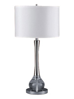 abaco modern table lamp white Shade