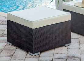 Patio Furniture Miami - Outdoor Side Tables and Ottomans at our Miami Design District Furniture store