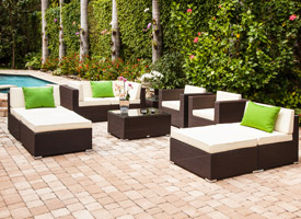 Almari outdoor set in espresso available at an unbelievable price at Modern Home 2 Go in Miami and Fort Lauderdale