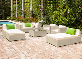 almari modern outdoor patio lounging set grey