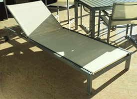 anacapri modern outdoor patio chaise lounger grey