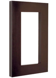 Annecy Rectangular Modern Mirror in wenge