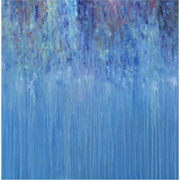 "Blue rain art 47""W x 47""H at MH2G"
