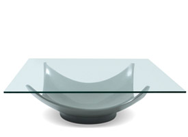 Alta Grey coffee table with glass top