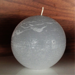 Rustique Ball Modern Candle in Platinum
