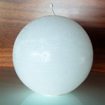 Rustique Ball Modern Candle in White