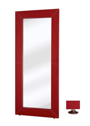 Basel Modern mirror Red leather