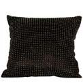 Beaded Modern Pillow Black