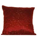 Beaded Modern Pillow Red