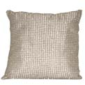 Beaded Modern Pillow Silver