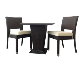 bogati modern outdoor patio dining set espresso