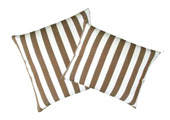 Brown Stripes Modern Outdoor Patio Pillow
