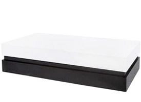 canelli modern coffee table in white and wengue