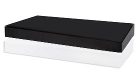 Canelli Side table with black lacquer top and white lacquer bottom