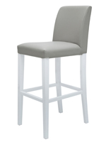 Canini Modern Bar Stool Grey Leatherette