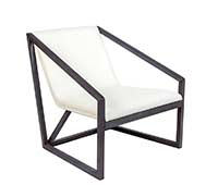 capua modern lounge chair white wengue