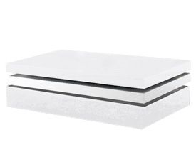 carinola modern coffee table in white