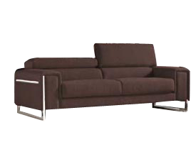 Carone sofa in espresso leather in stock at Modern Home 2 Go