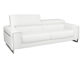 Carone modern Sofa in white leather