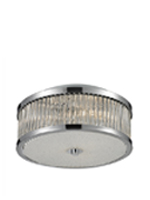 Carriot Modern Semi Flush 3 Bulb Modern Ceiling Lamp