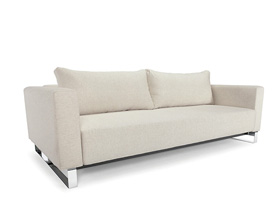 cassius sleek natural khaki sofa bed