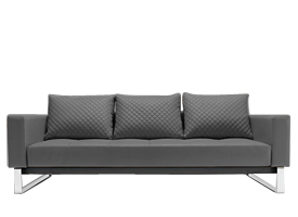 Cassius black leatherette Sofa bed