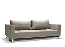 Cassius deluxe excess sofa bed in medium grey fabric available at Modern Home 2 Go