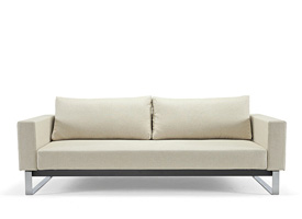 cassius sleek excess natural khaki sofa bed