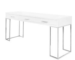 Cetera Modern Console Desk In white Lacquer