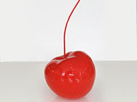 Cherry Modenr Accessory in red lacquer