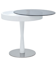 chianni modern side table white