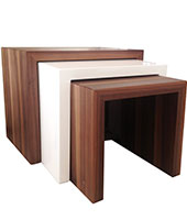Cilento Modern Side Table Walnut