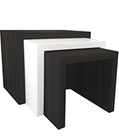 Cilento Modern Side Table Wengue