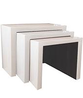 cilento modern side nesting table white