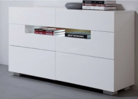 Citra Dresser in White lacquer avilable at Modern Home 2 go