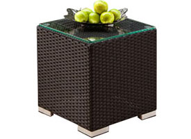 siderno modern outdoor patio side table espresso