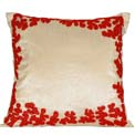 Coral Silk Modern Pillow