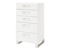 corsica modern desk dresser chest white